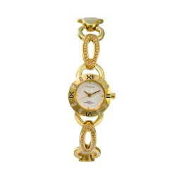 M.O.A LADIES' CONSORTIA ANALOG STAINLESS STEEL GOLD / OFF-WHITE KM1083-2206 WATCH image here
