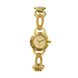 M.O.A LADIES' CONSORTIA ANALOG STAINLESS STEEL GOLD KM1083-2207 WATCH image here