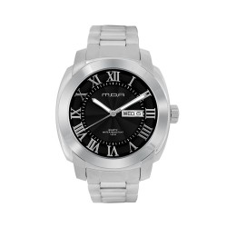 M.O.A MEN'S ESCALOP ANALOG STAINLESS STEEL SILVER / BLACK KM1084-1102 WATCH image here