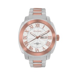 M.O.A MEN'S ESCALOP ANALOG STAINLESS STEEL SILVER/ROSE GOLD/WHITE KM1084-1411 WATCH image here