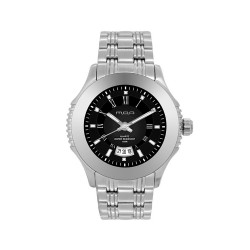 M.O.A MEN'S DESTINEA PAIR ANALOG STAINLESS STEEL SILVER / BLACK KM1085-1102 WATCH image here