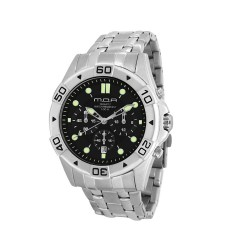 M.O.A MEN'S ECHELON CHRONOGRAPH STAINLESS STEEL SILVER / BLACK KM1100-1102 WATCH image here