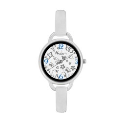 M.O.A LADIES' FASCINATION - PRIMAVERA SERIES ANALOG STAINLESS STEEL SILVER / WHITE KM1138-2101 WATCH image here