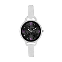 M.O.A LADIES' FASCINATION - PRIMAVERA SERIES ANALOG STAINLESS STEEL SILVER / BLACK KM1138-2102 WATCH image here