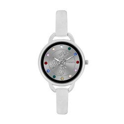 M.O.A LADIES' FASCINATION - PALETTE SERIES ANALOG STAINLESS STEEL SILVER KM1139-2101 WATCH image here