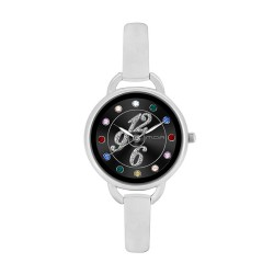 M.O.A LADIES' FASCINATION - PALETTE SERIES ANALOG STAINLESS STEEL SILVER / BLACK KM1139-2102 WATCH image here