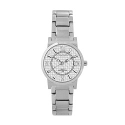 M.O.A LADIES' VERSA VINTAGE - CHEQUER SERIES PAIR ANALOG STAINLESS STEEL SILVER KM1141-2101 WATCH image here