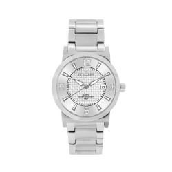 M.O.A MEN'S VERSA VINTAGE - CHEQUER SERIES PAIR ANALOG STAINLESS STEEL SILVER KM1142-1101 WATCH image here
