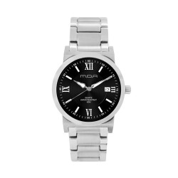M.O.A MEN'S VERSA VINTAGE - COLUMNAR SERIES PAIR ANALOG STAINLESS STEEL SILVER / BLACK KM1146-1102 WATCH image here