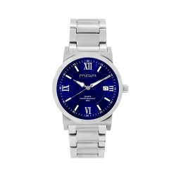 M.O.A MEN'S VERSA VINTAGE - COLUMNAR SERIES PAIR ANALOG STAINLESS STEEL SILVER / NAVY BLUE KM1146-1103 WATCH image here