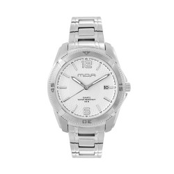 M.O.A HELIANTOS - VORTEX ANALOG STAINLESS STEEL WHITE KM1160-1101 WATCH image here