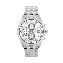 M.O.A MEN'S FLINTER - STRATO SERIES CHRONOGRAPH STAINLESS STEEL SILVER / WHITE KM1167-1101 WATCH image here