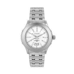 M.O.A LADIES' DESTINEA PAIR ANALOG STAINLESS STEEL SILVER / WHITE KM1123-2101 WATCH image here