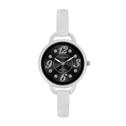 M.O.A LADIES' FASCINATION - PRISTINE SERIES ANALOG STAINLESS STEEL SILVER / BLACK KM1140-2102 WATCH image here
