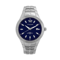 M.O.A MEN'S TYCHO - LATISSE SERIES ANALOG STAINLESS STEEL SILVER / NAVY BLUE KM1156-1101 WATCH image here