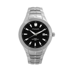 M.O.A MEN'S TYCHO - SCALERE SERIES ANALOG STAINLESS STEEL SILVER / BLACK KM1157-1102 WATCH image here