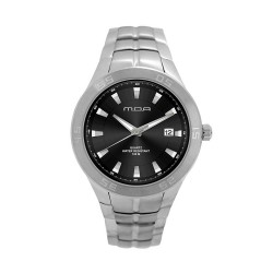 M.O.A MEN'S TYCHO - SCALERE SERIES ANALOG STAINLESS STEEL SILVER / BLACK KM1158-1102 WATCH image here
