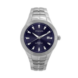 M.O.A MEN'S TYCHO - SCALERE SERIES ANALOG STAINLESS STEEL SILVER / NAVY BLUE KM1158-1103 WATCH image here