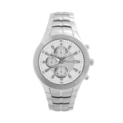 M.O.A MEN'S TYCHO - CYCLONE CHRONOGRAPH SERIES STAINLESS STEEL SILVER / WHITE KM1159-1101 WATCH image here