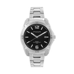 M.O.A MEN'S VORTEX -HELIANTOS SERIES ANALOG STAINLESS STEEL SILVER / BLACK KM1160-1102 WATCH image here