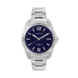 M.O.A MEN'S VORTEX -HELIANTOS SERIES ANALOG STAINLESS STEEL SILVER / NAVY BLUE KM1160-1103 WATCH image here
