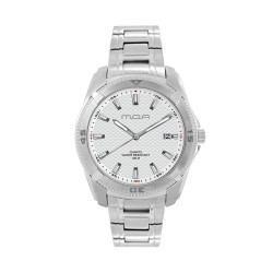 M.O.A MEN'S VORTEX -FABRICIO SERIES ANALOG STAINLESS STEEL SILVER / WHITE KM1161-1101 WATCH image here