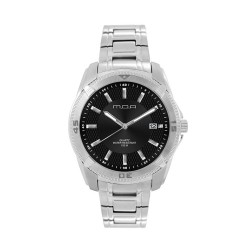 M.O.A MEN'S VORTEX - DEAMANTE SERIES ANALOG STAINLESS STEEL SILVER / BLACK KM1162-1102 WATCH image here