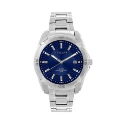 M.O.A MEN'S VORTEX - DEAMANTE SERIES ANALOG STAINLESS STEEL SILVER / NAVY BLUE KM1162-1103 WATCH image here