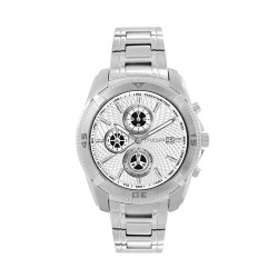 M.O.A MEN'S VORTEX - CYCLONE CHRONOGRAPH SERIES STAINLESS STEEL SILVER / WHITE KM1163-1101 WATCH image here