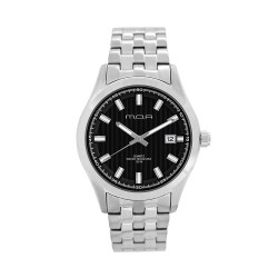 M.O.A MEN'S FLINTER - COLUMNUS SERIES ANALOG STAINLESS STEEL SILVER / BLACK KM1164-1102 WATCH image here