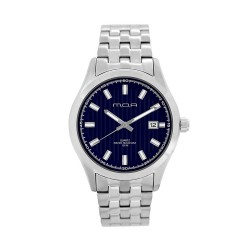 M.O.A MEN'S FLINTER - COLUMNUS SERIES ANALOG STAINLESS STEEL SILVER / NAVY BLUE KM1164-1103 WATCH image here