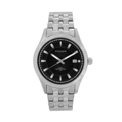 M.O.A MEN'S FLINTER - MILLICREST SERIES ANALOG STAINLESS STEEL SILVER / BLACK KM1165-1102 WATCH image here