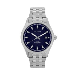 M.O.A MEN'S FLINTER - MILLICREST SERIES ANALOG STAINLESS STEEL SILVER / NAVY BLUE KM1165-1103 WATCH image here