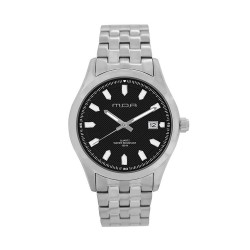 M.O.A MEN'S FLINTER - QUAD SERIES ANALOG STAINLESS STEEL SILVER / BLACK KM1166-1102 WATCH image here