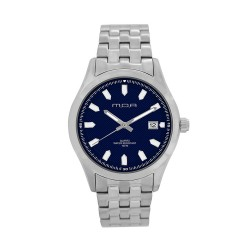 M.O.A MEN'S FLINTER - QUAD SERIES ANALOG STAINLESS STEEL SILVER / NAVY BLUE KM1166-1103 WATCH image here