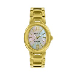 M.O.A LADIES' OPHELIA ANALOG STAINLESS STEEL GOLD / WHITE MOTHER-OF-PEARL KM1168-2204 WATCH image here
