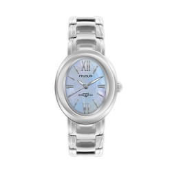 M.O.A LADIES' OPHELIA ANALOG STAINLESS STEEL SILVER / LIGHT BLUE MOTHER-OF-PEARL KM1168-2905 WATCH image here