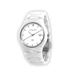 M.O.A VESPER ANALOG CERAMIC WHITE KM1347-1102 WATCH image here