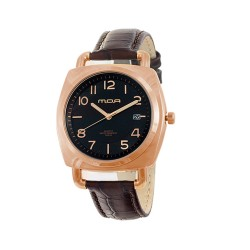 M.O.A MEN'S QUASAR ANALOG LEATHER BROWN/ROSE GOLD/BLACK KM1462-1401 WATCH image here