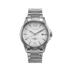 M.O.A MEN'S CIRCO LATTICE ANALOG STAINLESS STEEL SILVER / WHITE KM1465-1101 WATCH image here