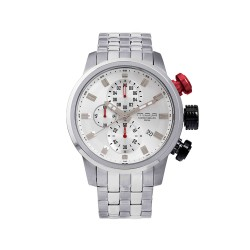 M.O.A MEN'S FUSELAGE CHRONOGRAPH STAINLESS STEEL SILVER KM1542-1406 WATCH image here