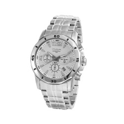 M.O.A MEN'S KRONUS CHRONOGRAPH STAINLESS STEEL SILVER / WHITE KM1626-1101 image here