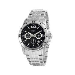 M.O.A MEN'S KRONUS ANALOG STAINLESS STEEL SILVER / BLACK KM1626-1102 image here