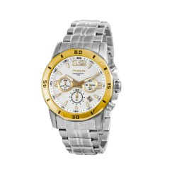 M.O.A MEN'S KRONUS ANALOG STAINLESS STEEL SILVER/GOLD/WHITE KM1626-1105 image here