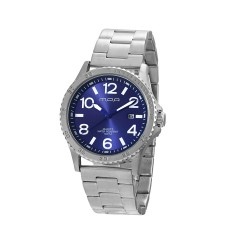 M.O.A MEN'S ARMATURA-PRIMERO ANALOG STAINLESS STEEL SILVER / BLUE KM1627-1103 WATCH image here