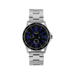 M.O.A MEN'S ARMATURA - ESCRIVO STAINLESS STEEL SILVER/BLACK/BLUE KM1630-1106 WATCH image here