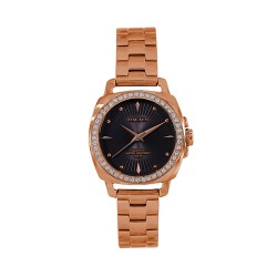 M.O.A LADIES' RADIANA CRYSTALIS ANALOG STAINLESS STEEL ROSE GOLD / BLACK KM1704-2405 WATCH image here