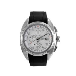 M.O.A MEN'S TEKTONITE CHRONOGRAPH STAINLESS STEEL BLACK/SILVER/WHITE KM1715-1101 WATCH image here