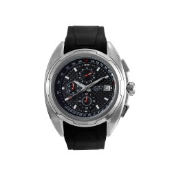 M.O.A MEN'S TEKTONITE CHRONOGRAPH STAINLESS STEEL BLACK/SILVER KM1715-1102 WATCH image here