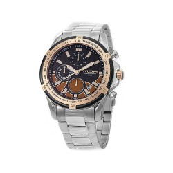 M.O.A MEN'S HELMSMAN CHRONOGRAPH STAINLESS STEEL BLACK/ROSE GOLD/BROWN KM1716-1107 WATCH image here